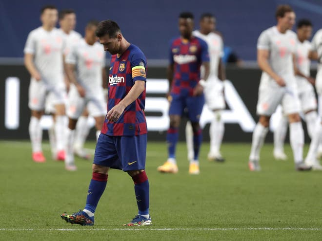 Messi worst ever defeat in Europe
