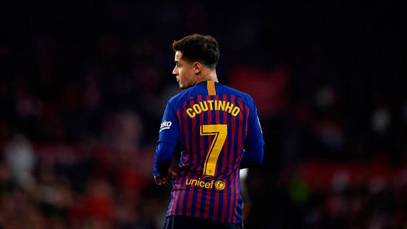 Barcelona Remove Philippe Coutinho As Club's No.7