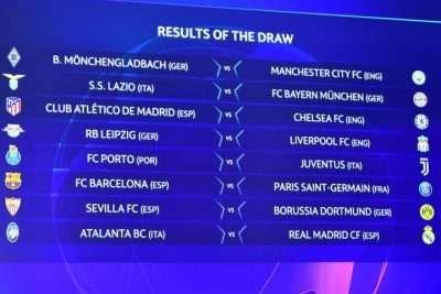 Last 16 team in Champions League