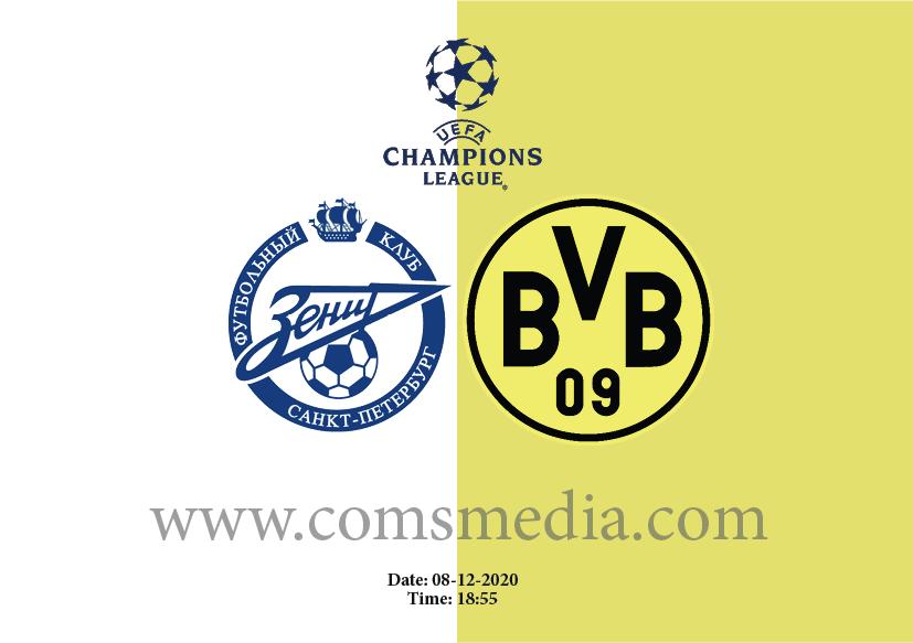 Zenit vs Dortmund match tips and line-up