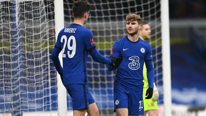 Werner ends goal drought in routine FA Cup win