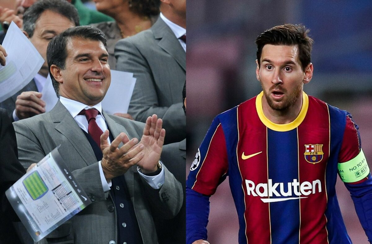 Lionel Messi & others elect new Barcelona president
