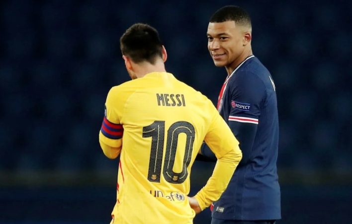 Kylian Mbappe rushed toward Lionel Messi