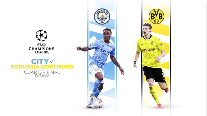 Man City will face Dortmund in Quarter Final