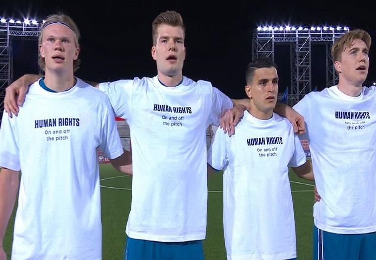 ermany players support Qatar against human rights