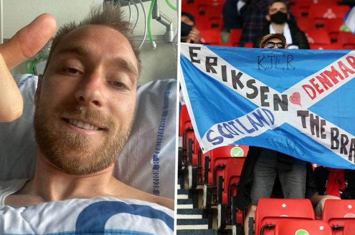 Eriksen offers update on his condition following collapse with Denmark