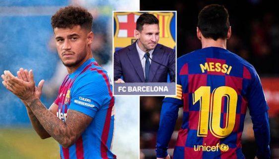Coutinho has take over Messi No. 10 Shirt