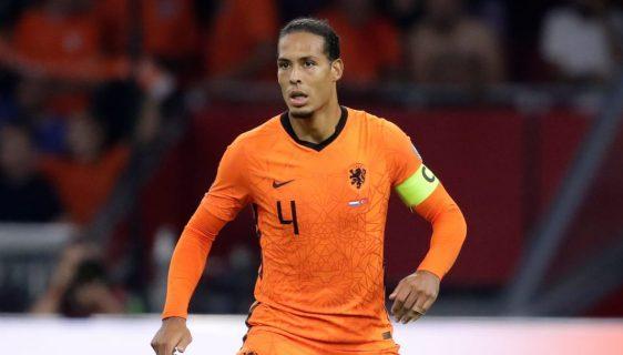 Virgil van Dijk injury during Netherlands vs Turkey